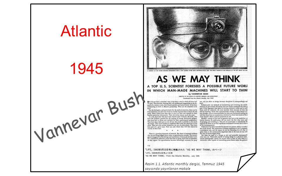 Vannevar Bush Atlantic 1945 Resim 1.1. Atlantic monthly dergisi, Temmuz 1945 sayısında yayınlanan makale