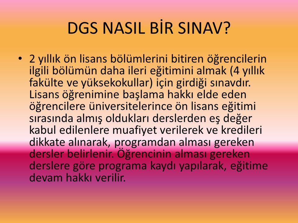 DGS NASIL BİR SINAV.