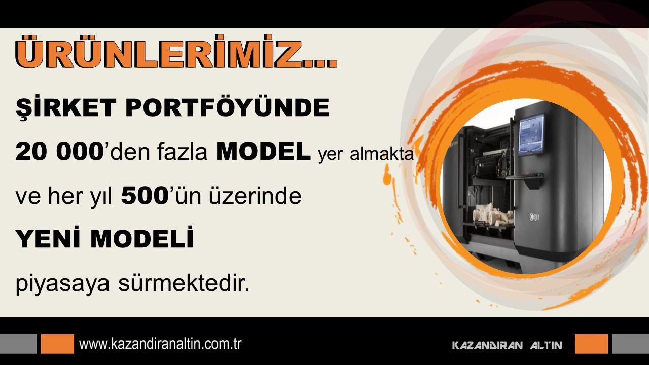 ŞİRKET PORTFÖYÜNDE 20 000 'den fazla MODEL yer almakta ve her yıl 500 'ün üzerinde YENİ MODELİ piyasaya sürmektedir.