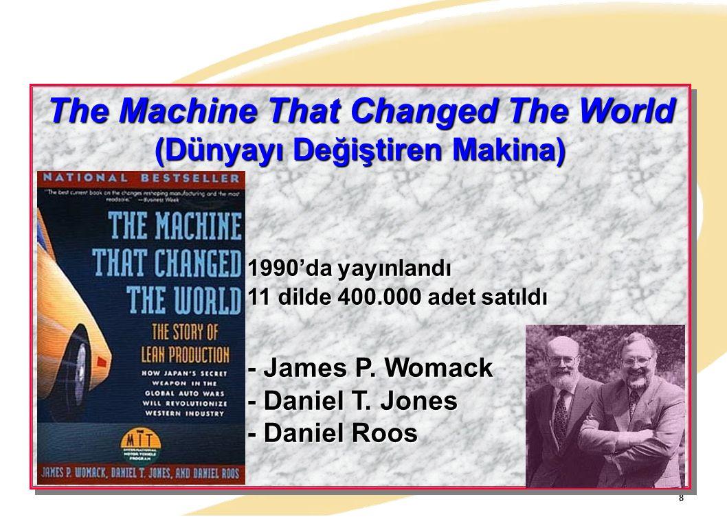 8 The Machine That Changed The World (Dünyayı Değiştiren Makina) 1990'da yayınlandı 11 dilde 400.000 adet satıldı - James P. Womack - Daniel T. Jones