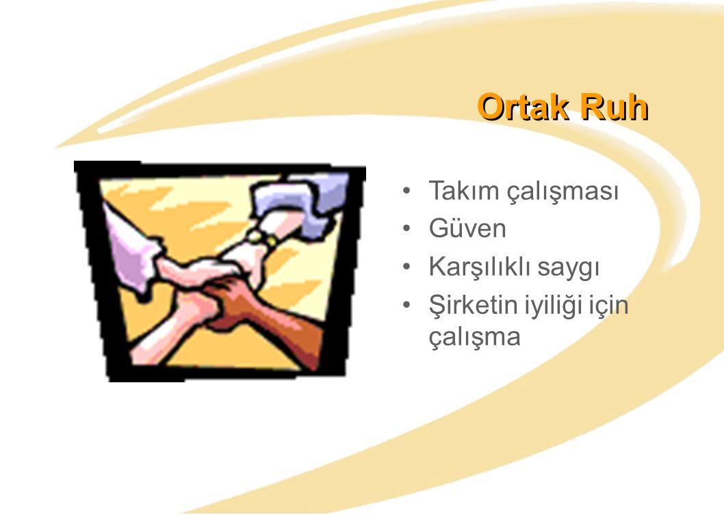 Ortak Ruh Takım çalışması Güven Karşılıklı saygı Şirketin iyiliği için çalışma