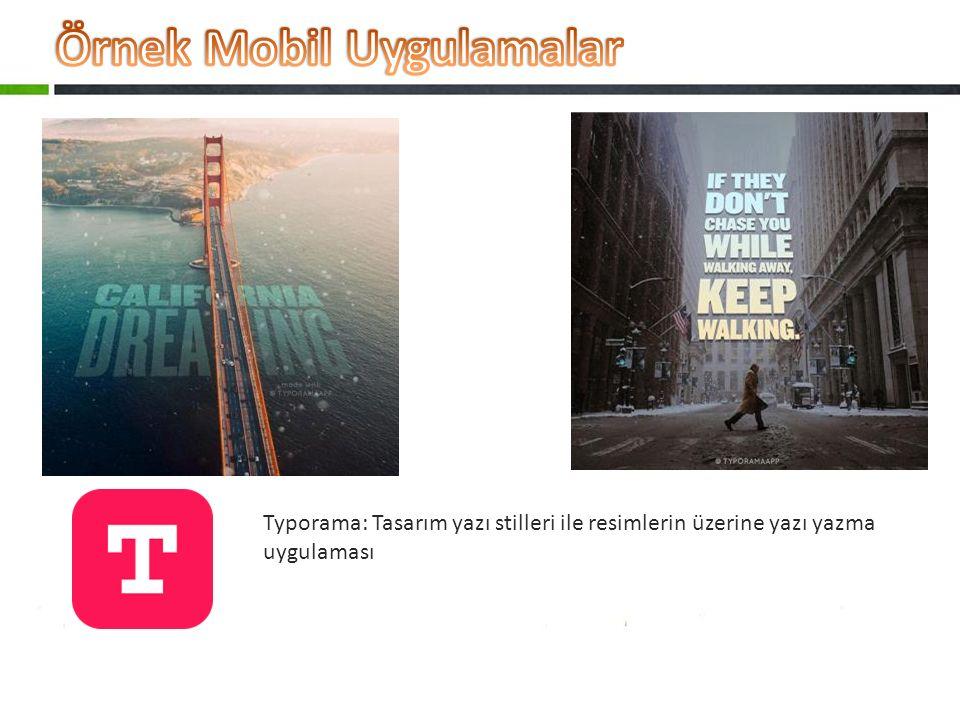 Typorama: Tasarım yazı stilleri ile resimlerin üzerine yazı yazma uygulaması