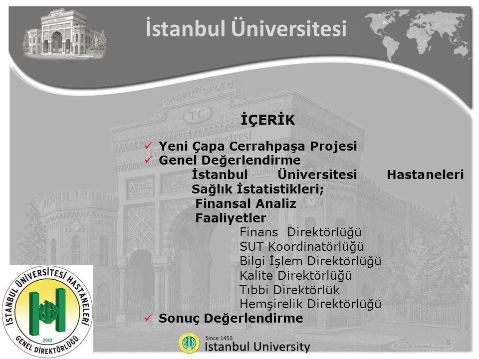 İSTANBUL ÜNİVERSİTESİ HASTANELERİ LABORATUVAR KOORDİNATÖRLÜĞÜ, 2015 Prof.