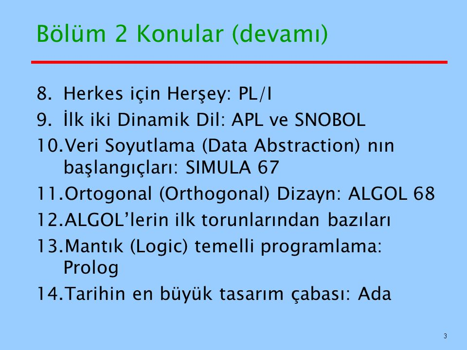 BASIC Örnek REM BASIC Example program DIM intlist(99) result = 0 sum = 0 INPUT listlen IF listlen > 0 AND listlen < 100 THEN FOR counter =1 to listlen INPUT intlist(counter) sum = sum + intlist(counter) NEXT counter average = sum/listlen FOR counter =1 to listlen IF intlist(counter) > average THEN result = result +1 NEXT counter PRINT The number of values that are > average is : ; result ELSE PRINT ERROR - input list length is not legal END IF END REM BASIC Example program DIM intlist(99) result = 0 sum = 0 INPUT listlen IF listlen > 0 AND listlen < 100 THEN FOR counter =1 to listlen INPUT intlist(counter) sum = sum + intlist(counter) NEXT counter average = sum/listlen FOR counter =1 to listlen IF intlist(counter) > average THEN result = result +1 NEXT counter PRINT The number of values that are > average is : ; result ELSE PRINT ERROR - input list length is not legal END IF END 54