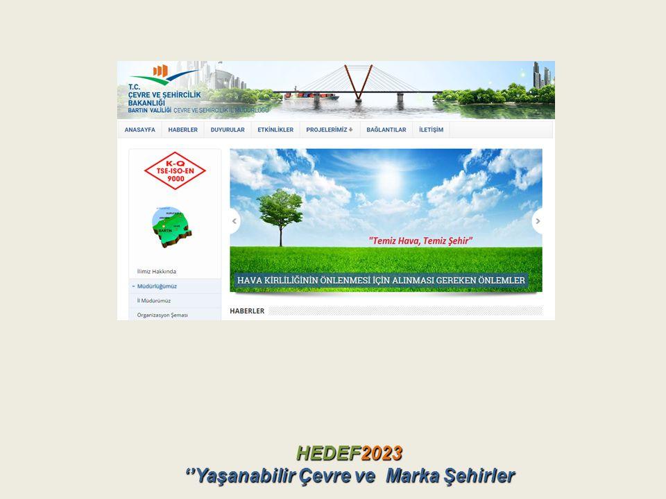 HEDEF2023 ''Yaşanabilir Çevre ve Marka Şehirler