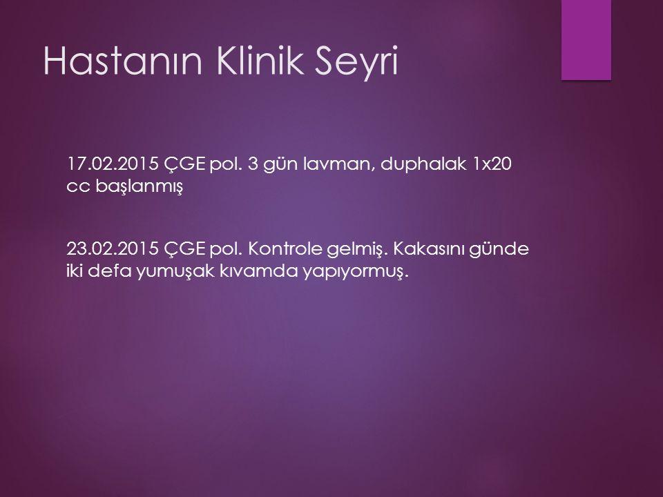 Hastanın Klinik Seyri 17.02.2015 ÇGE pol.