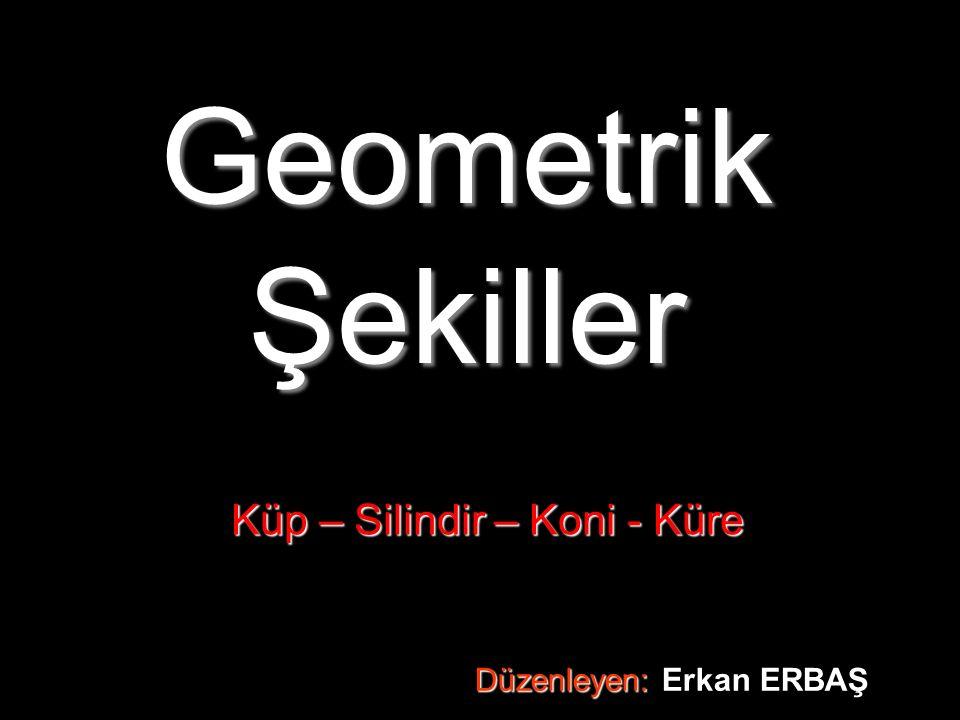 Geometrik Şekiller Küp – Silindir – Koni - Küre Düzenleyen: Düzenleyen: Erkan ERBAŞ