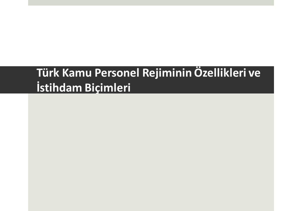 Türk Kamu Personel Rejiminin Özellikleri ve İstihdam Biçimleri