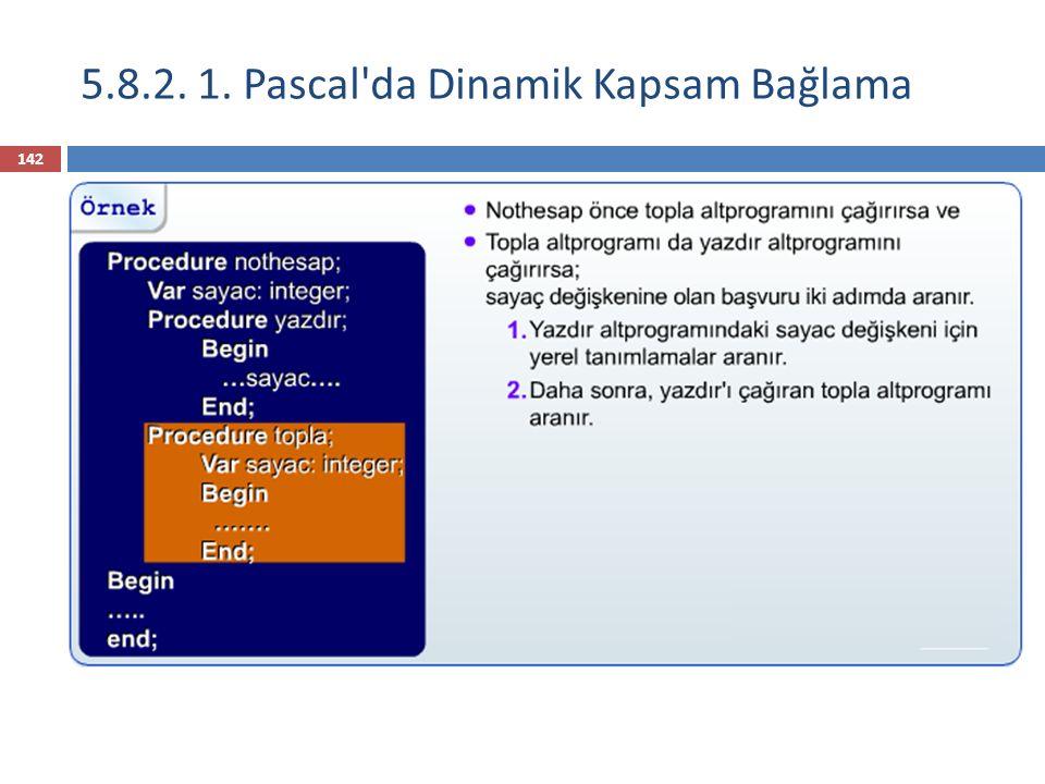 5.8.2. 1. Pascal da Dinamik Kapsam Bağlama 143