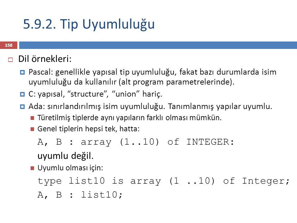 159  C, C++, Java, vs, için toplama operatörünün iki işlecinin farklı nümerik tiplerde olması önemli değildir.