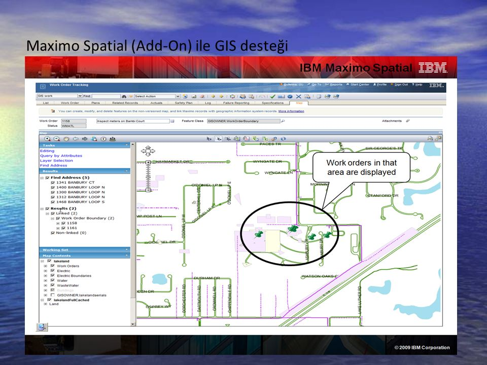 Maximo Spatial (Add-On) ile GIS desteği 26