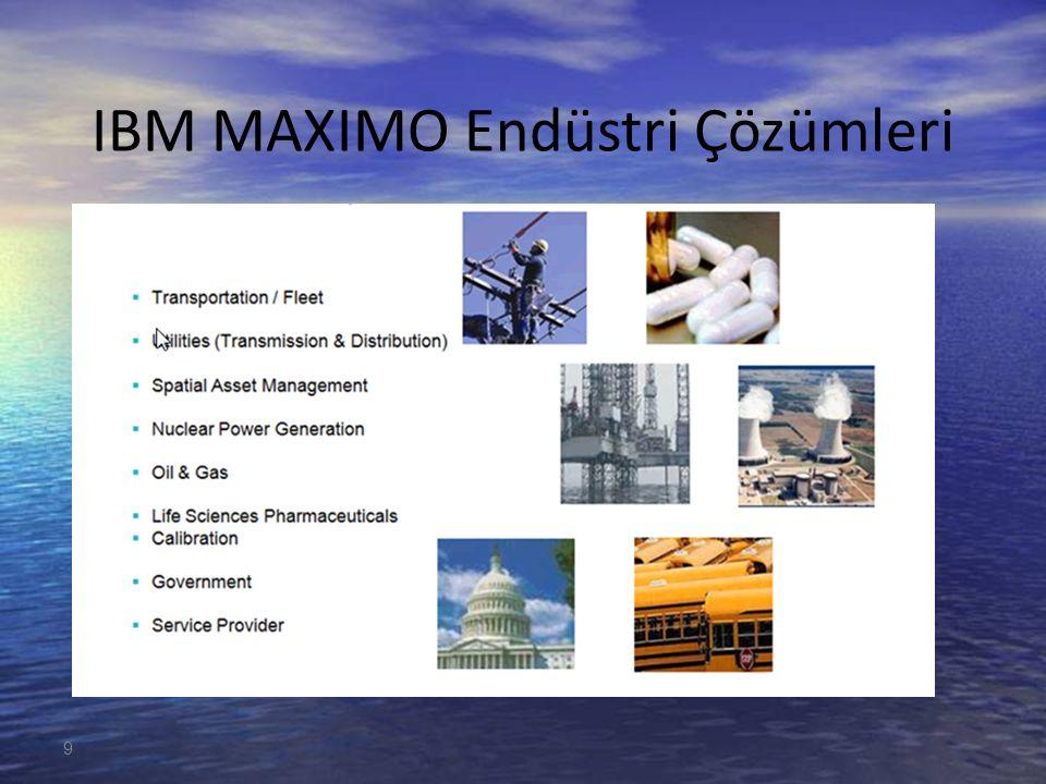 9 IBM MAXIMO Endüstri Çözümleri