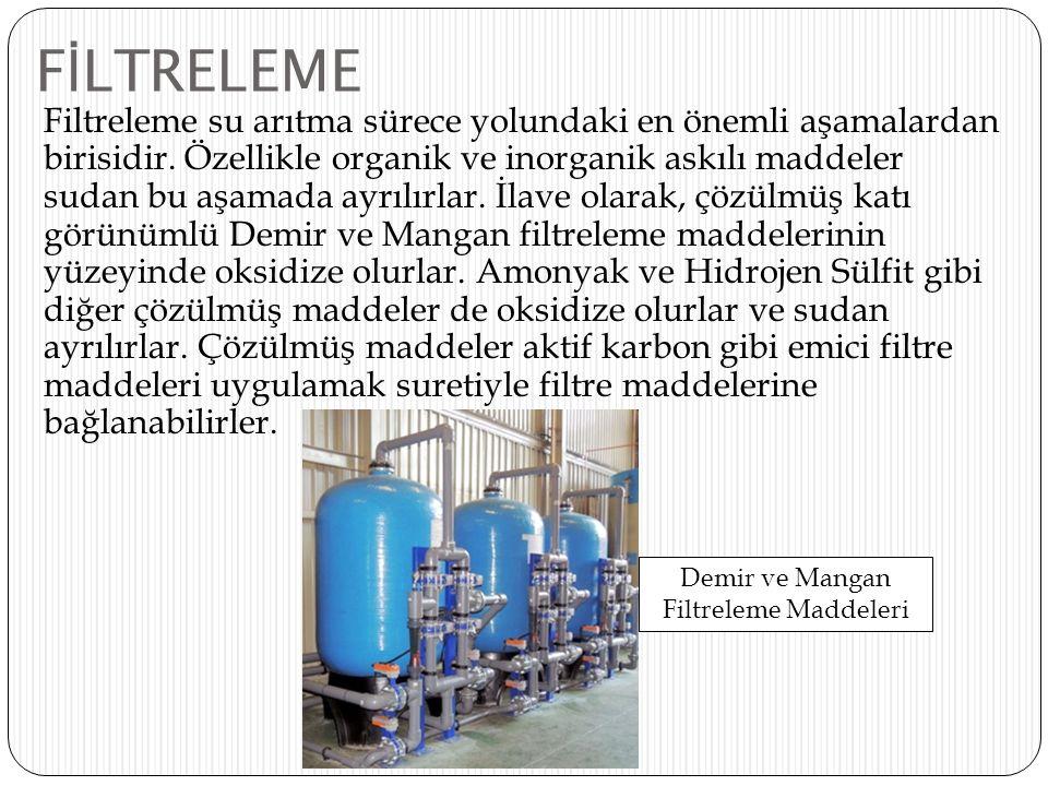 F İ LTRELEME Filtreleme su arıtma sürece yolundaki en önemli aşamalardan birisidir. Özellikle organik ve inorganik askılı maddeler sudan bu aşamada ay