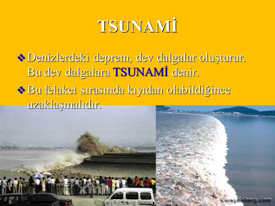 DOĞAL AFETLERugurlucky27 TSUNAMİ  Denizlerdeki deprem, dev dalgalar oluşturur.