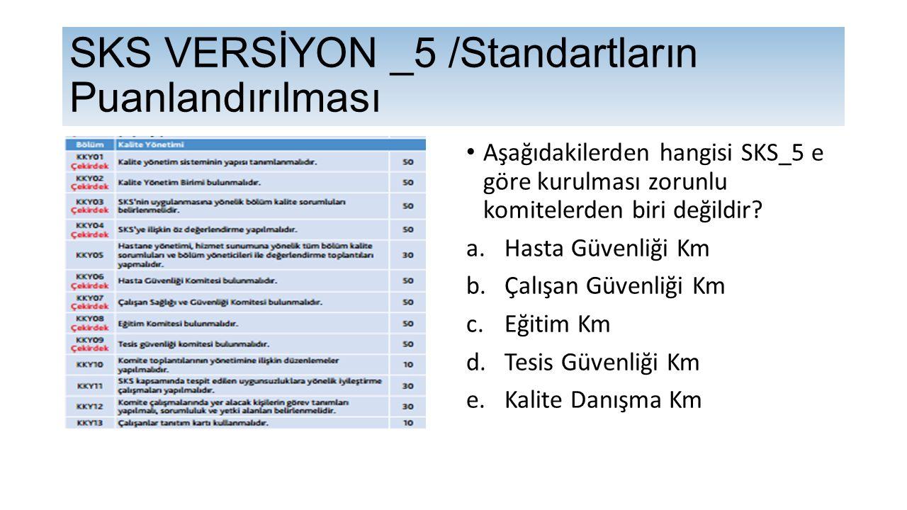 Aşağıdakilerden hangisi SKS_5 e göre kurulması zorunlu komitelerden biri değildir.