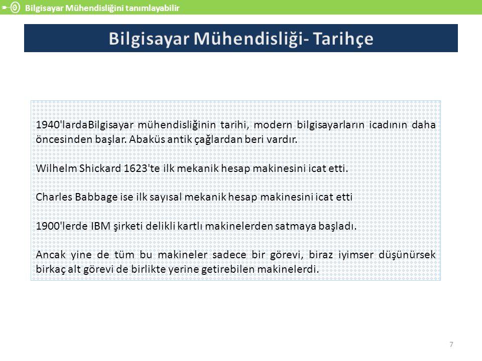 Bilgisayar Mühendisliğini tanımlayabilir 8 Türkiye de bilgisayar mühendisliği eğitiminde Elektronik Hesap Merkezleri yatmaktadır.