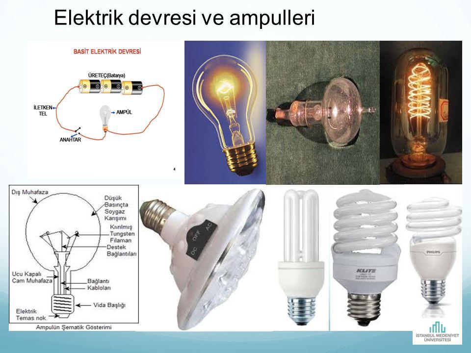 Elektrik devresi ve ampulleri