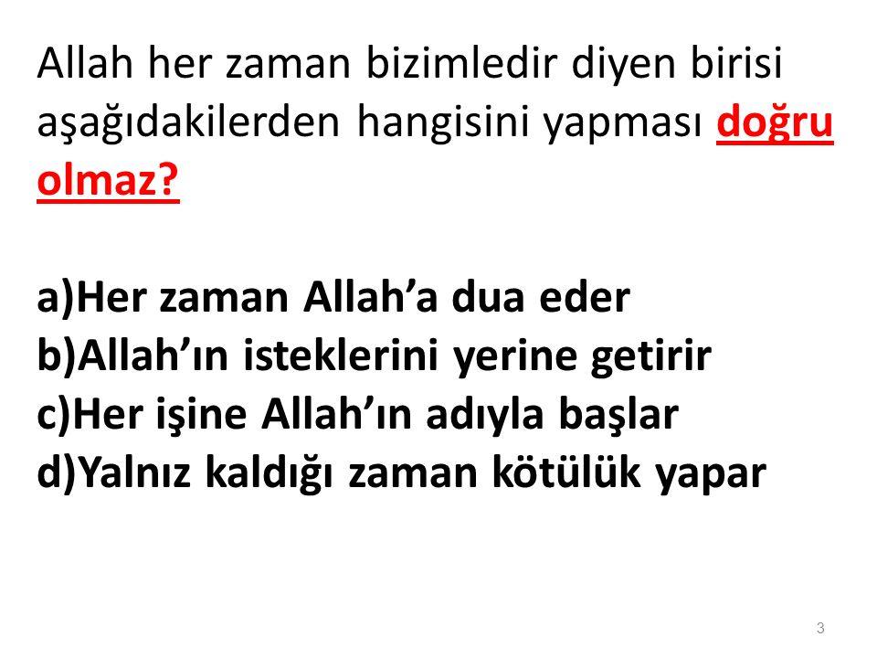 Allah'ın Her şeyi bilen anlamına gelen sıfatı hangisidir.