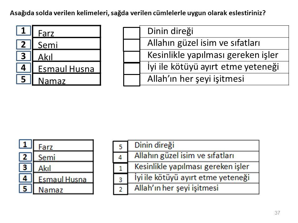 İslamın Başlıca ibadetleri nelerdir? Yazınız. namaz oruç hac zekat 36