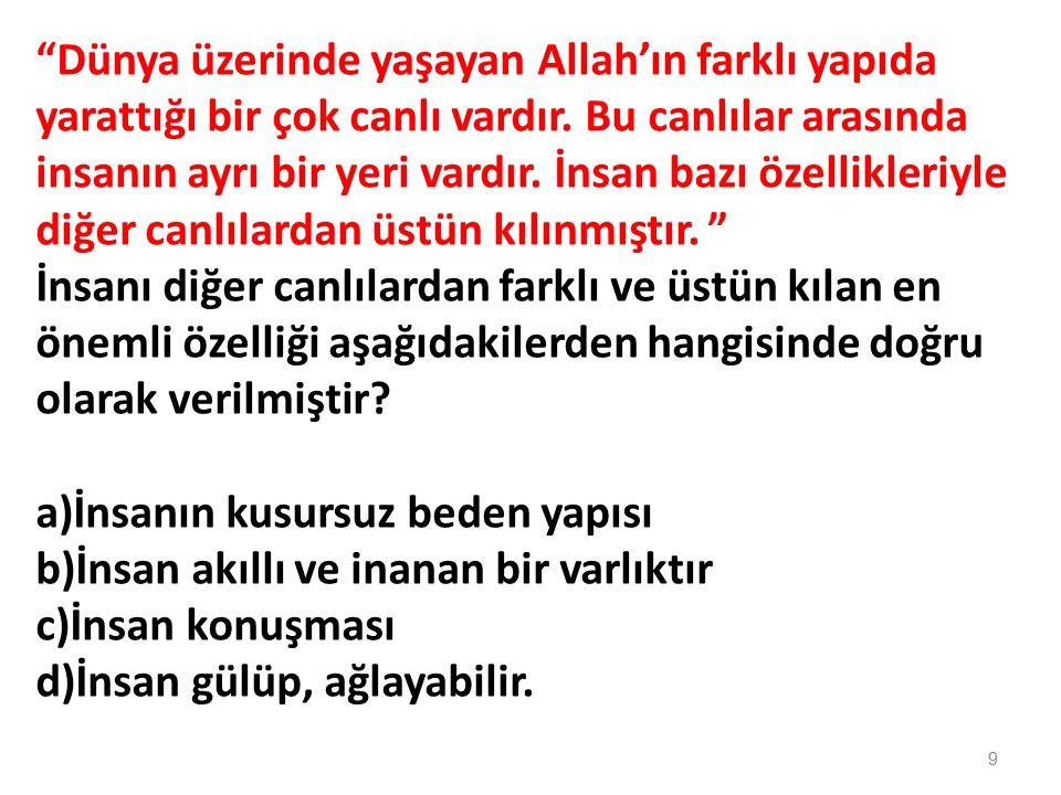 İhlas suresinde Allah'ın hangi özelliğinden söz edilmemektedir.