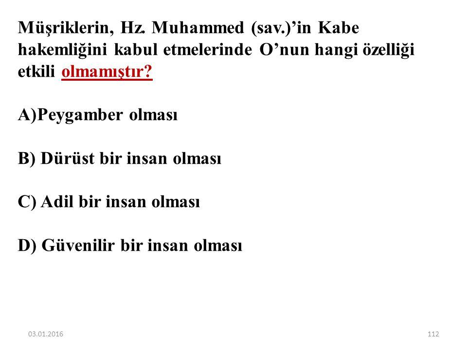 """Aşağıdaki ayetlerden hangisi Hz. Muhammed'in peygamberlik yönü ile ilgilidir? A)""""De ki: Ben de ancak sizin gibi bir insanım. (Ne var ki) bana, 'İlahın"""
