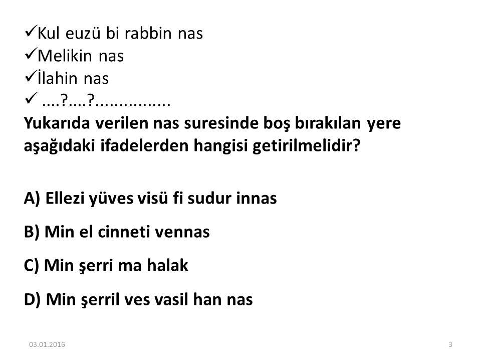 Kul euzü bi rabbin nas Melikin nas İlahin nas....?....?................