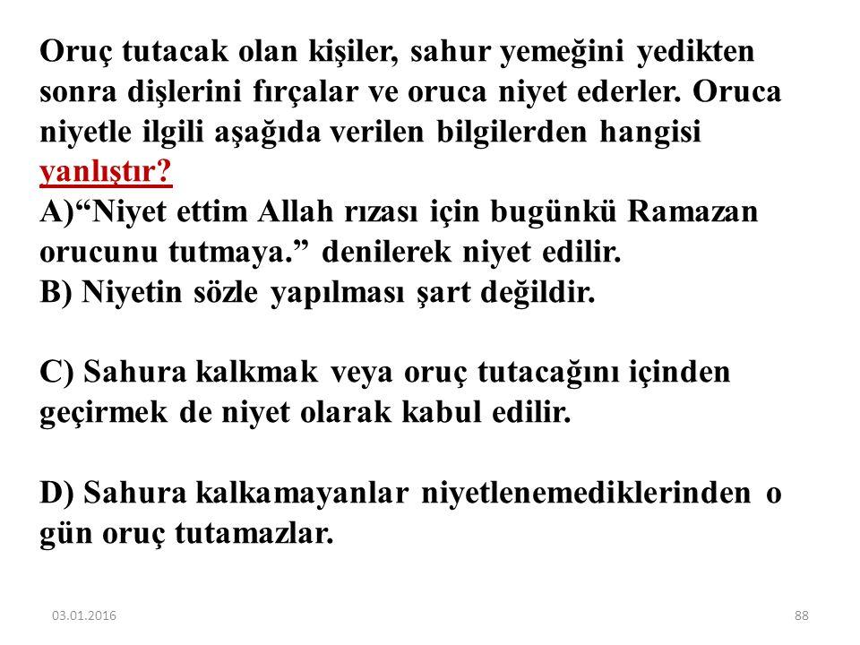 Aşağıdaki ifadelerden hangisinde Ramazan ayı ile ilgili yanlış bilgi verilmiştir? A)Ramazan ayının; sadece Anadolu tarihi, kültürü, örf ve âdetlerinde