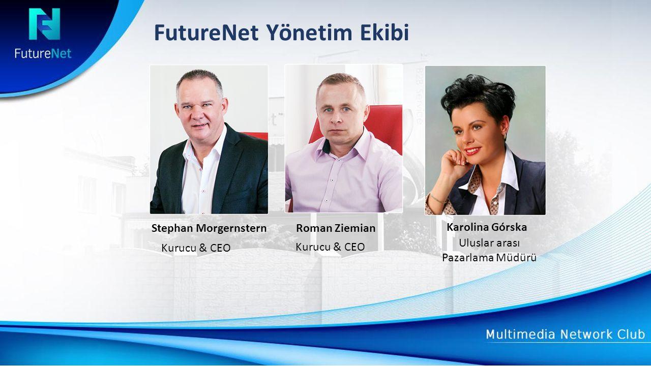 FutureNet Yönetim Ekibi Roman ZiemianStephan Morgernstern Kurucu & CEO Karolina Górska Uluslar arası Pazarlama Müdürü