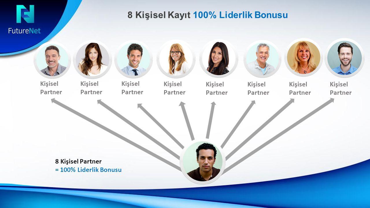 Kişisel Partner 8 Kişisel Kayıt 100% Liderlik Bonusu Kişisel Partner Kişisel Partner Kişisel Partner Kişisel Partner 8 Kişisel Partner = 100% Liderlik Bonusu Kişisel Partner Kişisel Partner Kişisel Partner