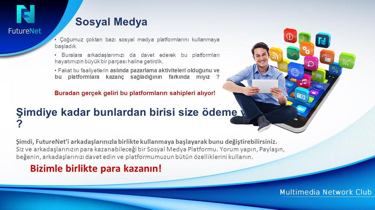 Sosyal Medya Bonusu Platformumuzdaki aktiviteleriniz için size para ödüyoruz.
