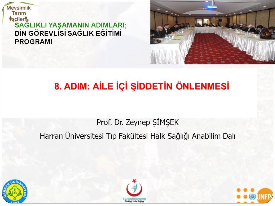 8. ADIM: AİLE İÇİ ŞİDDETİN ÖNLENMESİ Prof. Dr.