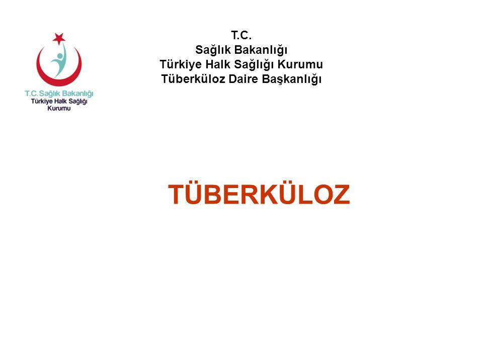 Türkiye'nin 2014 yılı toplam TB hasta sayısı: 13.378 Türkiye'de 2014 Yılında Kayıt Edilen TB Hastaları Yeni olgu12.253%92 Önceden tedavi görmüş olgu 1.125%8 Erkek7.728%58 Kadın5.650%42 Akciğer tüberkülozu8.632%65 Akciğer dışı tüberküloz4.746%35