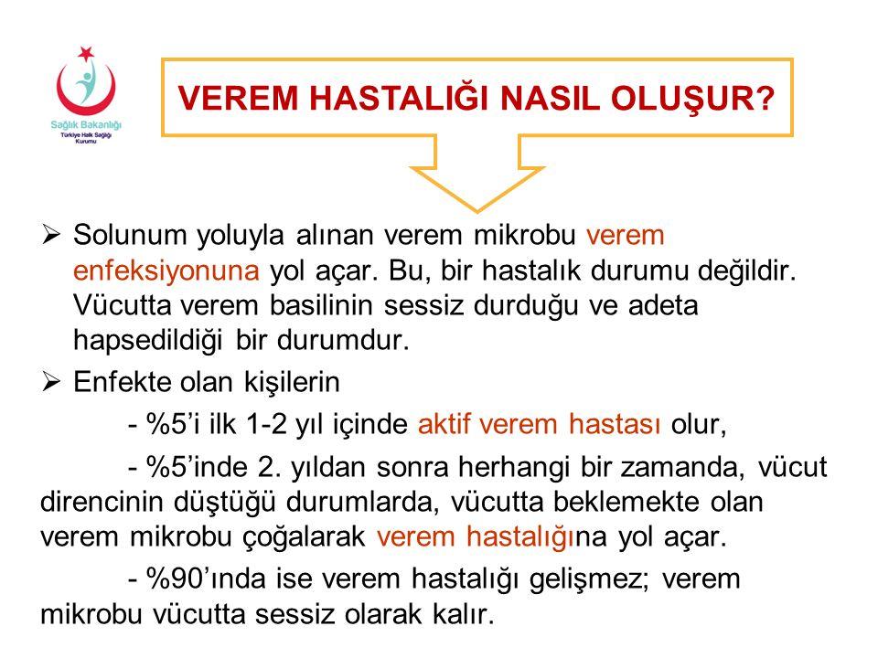 Dünyada Tüberküloz İnsidans Hızları, 2014 (DSÖ 2015 Raporu) Türkiye'nin 2014 yılı tahmini TB insidansı: Yüz binde 18
