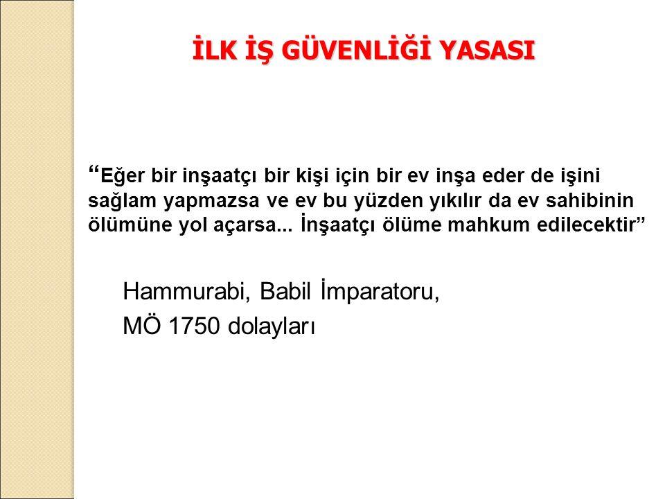 İSG'nin Ülkemizde Tarihsel Gelişimi (Osmanlı Dönemi) Osmanlı Döneminde İSG Sanayinin başlangıcı II.