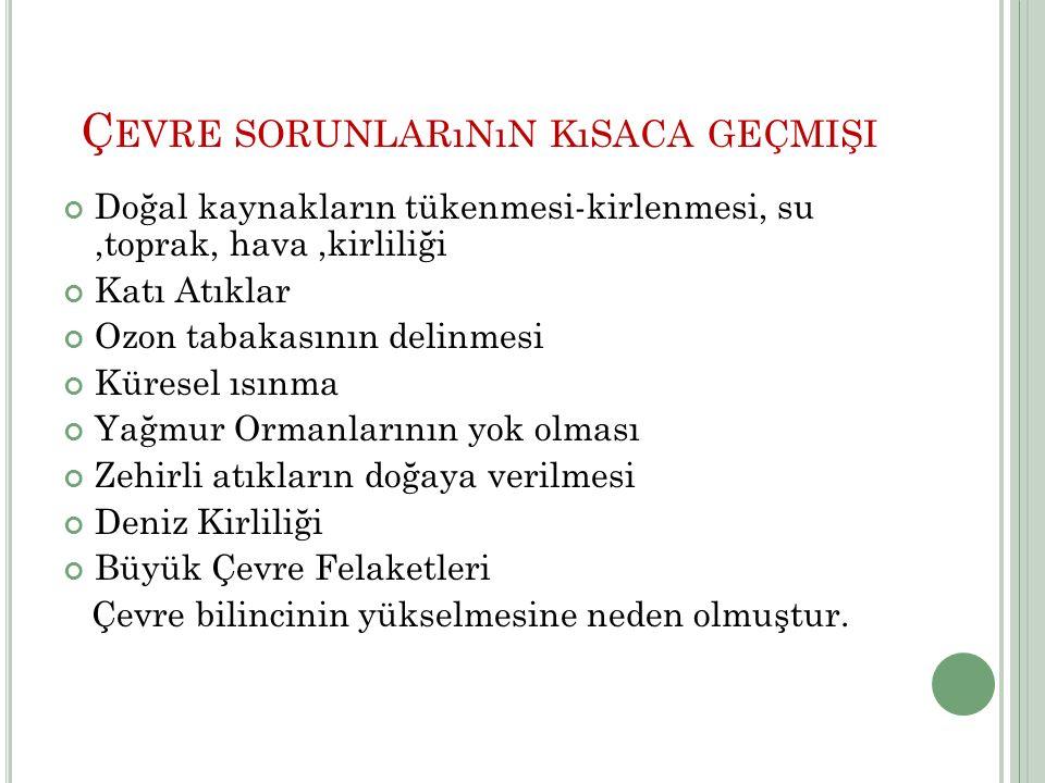 PSB Merkezi Başkanlığı © 2008 Türk Standardları Enstitüsü 6 ÇEVRE PROBLEMLERİ Hızlı nüfus artışı ve sanayileşme dünyamızı tehdit etmektedir.