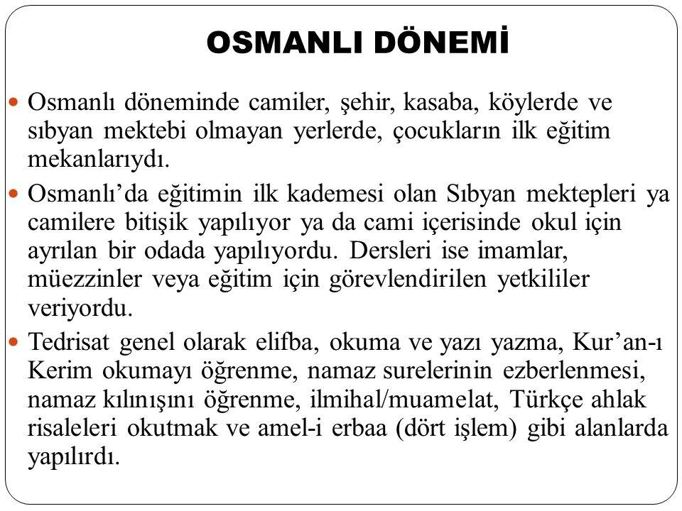 CUMHURİYET SONRASI DÖNEM Cumhuriyet döneminde çıkarılan 3 Mart 1924 tarih ve 430 sayılı Tevhid-i Tedrisat Kanunu ile; 1.