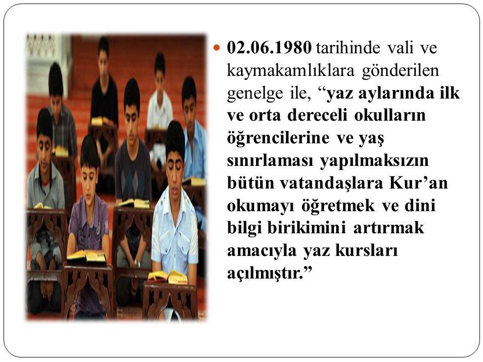 İlköğretimin zorunlu ve kesintisiz olarak sekiz yıla çıkarılmasından sonra 1997 yılında, bu yasaya uygun olarak 1990 Kur'an Kursları yönetmeliğinin bazı maddelerinde değişikliklere gidilmiştir.