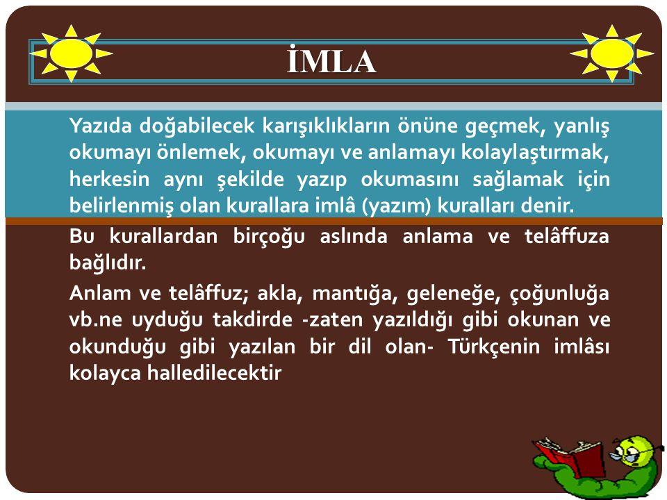 EK FİİLİN YAZIMI 2.