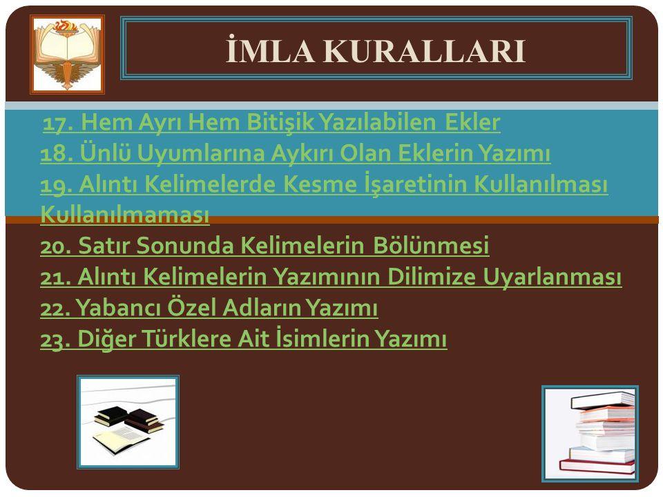 Düzeltme İşaretinin Kullanımı Düzeltme işareti Türkçe olmayan kelimelerde kullanılan bir işarettir.