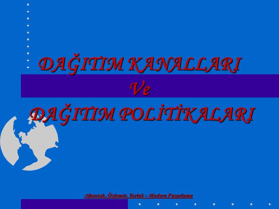 Altunışık, Özdemir, Torlak – Modern Pazarlama Endüstriyel Mallarda Dağıtım Kanalı Alternatifleri ÜRETİCİ ENDÜSTRİYEL DAĞITICI (DİSTRİBÜTÖR) ENDÜSTRİYEL KULLANICI ACENTE