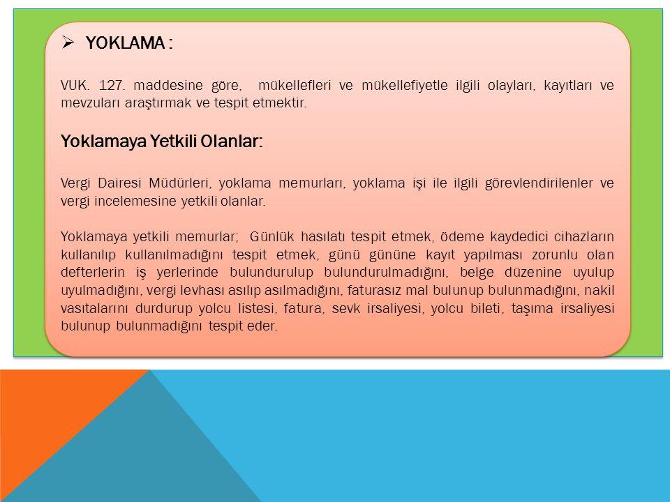  YOKLAMA : VUK.127.