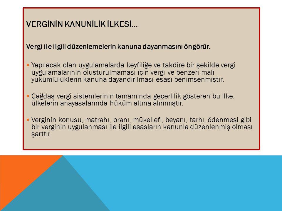 II.VERGİ UYUŞMAZLIKLARININ YARGI YOLU İLE ÇÖZÜMÜ Anayasa'nın 125.