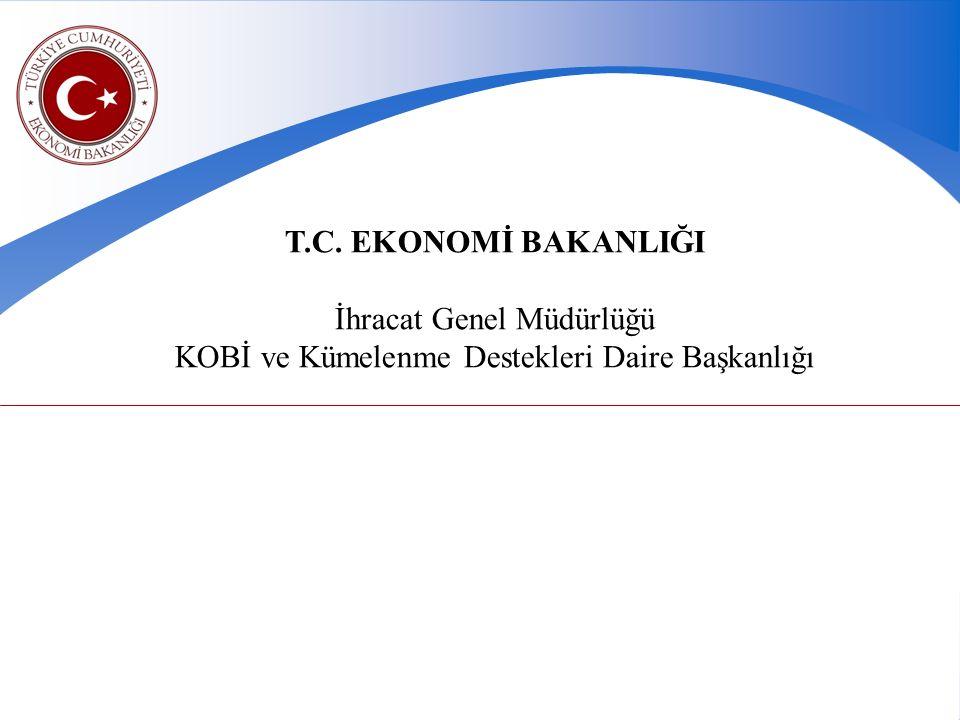 T.C. EKONOMİ BAKANLIĞI İhracat Genel Müdürlüğü KOBİ ve Kümelenme Destekleri Daire Başkanlığı