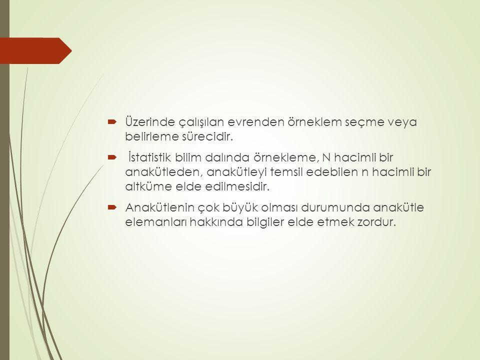  Örneklem hatasını etkileyen en önemli faktör kümelerin homojen ya da heterojen olmasıdır.