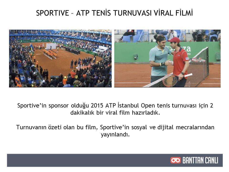 Sportive'in sponsor olduğu 2015 ATP İstanbul Open tenis turnuvası için 2 dakikalık bir viral film hazırladık.