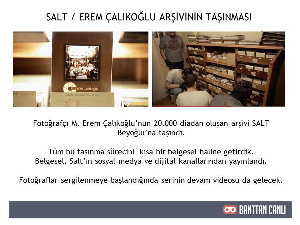 SALT / EREM ÇALIKOĞLU ARŞİVİNİN TAŞINMASI Fotoğrafçı M.