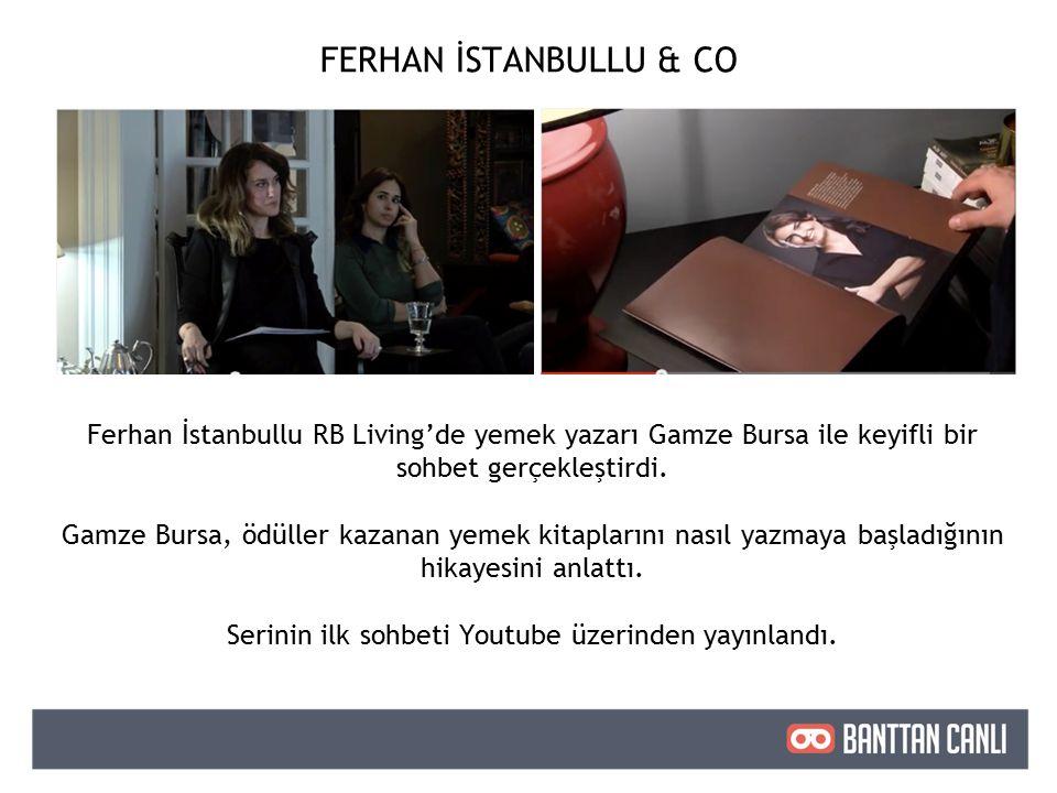 Ferhan İstanbullu RB Living'de yemek yazarı Gamze Bursa ile keyifli bir sohbet gerçekleştirdi.