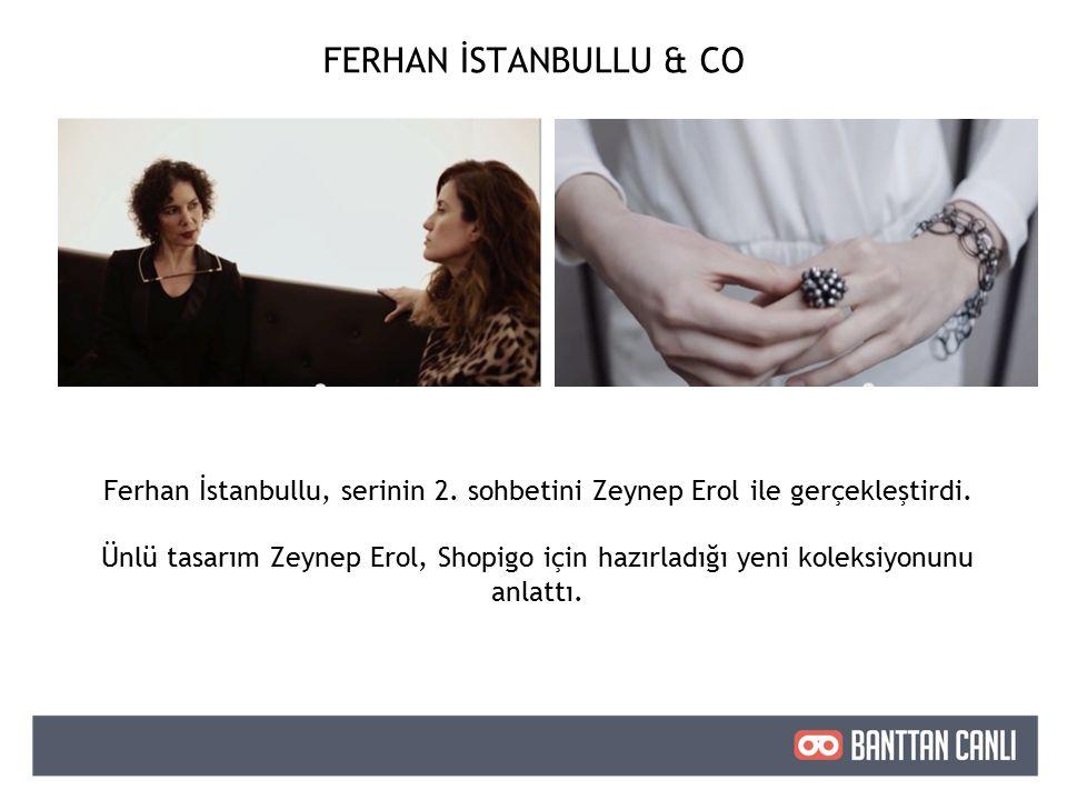 Ferhan İstanbullu, serinin 2. sohbetini Zeynep Erol ile gerçekleştirdi.