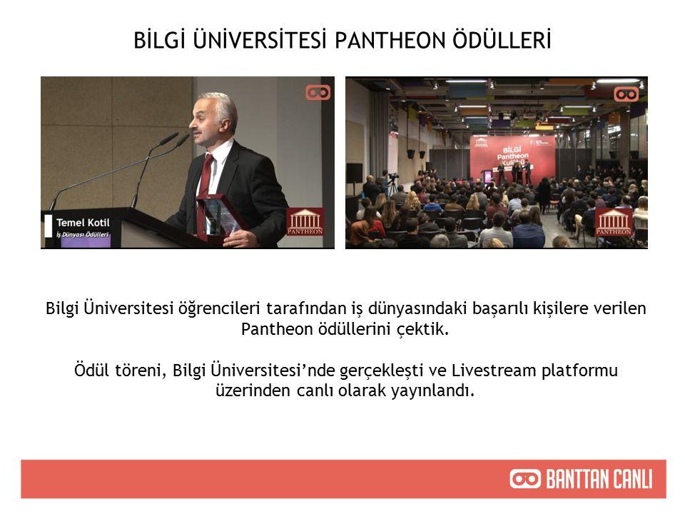 BİLGİ ÜNİVERSİTESİ PANTHEON ÖDÜLLERİ Bilgi Üniversitesi öğrencileri tarafından iş dünyasındaki başarılı kişilere verilen Pantheon ödüllerini çektik.