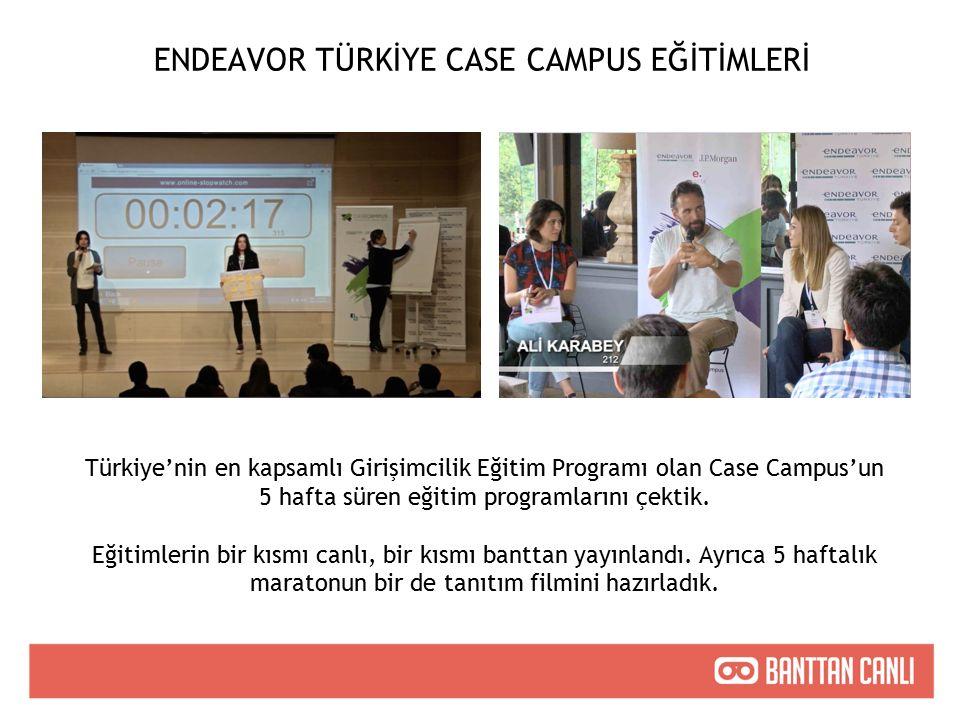 ENDEAVOR TÜRKİYE CASE CAMPUS EĞİTİMLERİ Türkiye'nin en kapsamlı Girişimcilik Eğitim Programı olan Case Campus'un 5 hafta süren eğitim programlarını çektik.